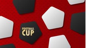 Tasse de championnat du monde du football, fond abstrait du football, vec illustration stock
