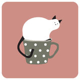 tasse de chat Photographie stock