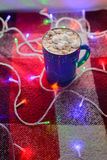 Tasse de chocolat chaud Photos stock