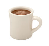 Tasse de chocolat chaud d'isolement Photos libres de droits