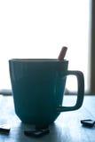 Tasse de chocolat chaud Silouette Photographie stock