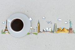 Tasse de concept de déplacement de café illustration libre de droits