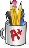 Tasse de crayons lecteurs et de crayons Image stock