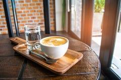 Tasse de cuisine chaude de caféine de café de Latte pour la boisson Photo libre de droits