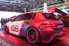 Tasse de emballage de Peugeot 308 à l'IAA 2015 Images libres de droits