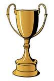 Tasse de gagnants d'or Photo stock