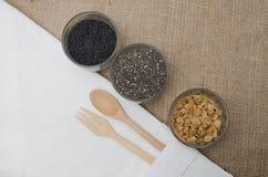 Tasse de graines de grain de céréale Images libres de droits
