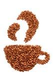 Tasse de grains de café Photographie stock