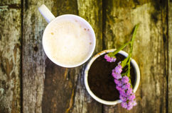 Tasse de lait de chocolat chaud Photo stock