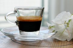 Tasse de matin de café Photographie stock