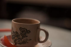 Tasse de matin de Kopi Image libre de droits