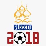 Tasse 2018 de mot du football de la Russie Images libres de droits