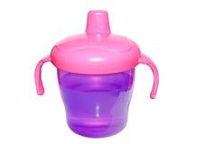 Tasse de petite gorgée de bébé d'isolement Photo stock