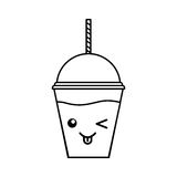 Tasse de plastique de milkshake illustration stock