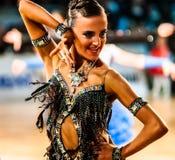 Tasse de région de Tyumen sur des danses de salle de bal Photographie stock
