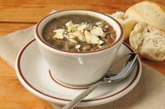 Tasse de soupe à lentille Images libres de droits