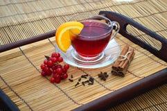 Tasse de thé de canneberge Image stock