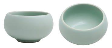 Tasse de thé chinoise de soupière de RU Photographie stock libre de droits