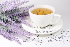 Tasse de thé de lavande Images libres de droits