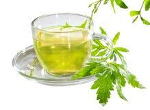 Tasse de thé de verveine de citron Photo stock