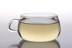 Tasse de thé en verre Photo stock