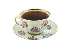 Tasse de thé et soucoupe Photographie stock libre de droits