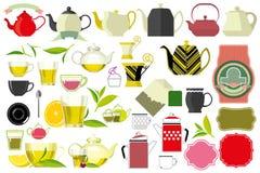 Tasse de thé et théière, bouilloire Image libre de droits