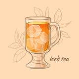 tasse de thé glacé Illustration Libre de Droits