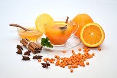 Tasse de thé de nerprun Image stock