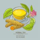 Tasse de thé de safran des indes Photo stock