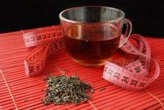 Tasse de thé vert pour la perte de poids images libres de droits