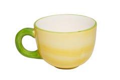 tasse de thé vide de porcelaine Photos stock