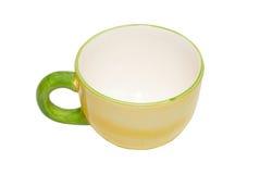 tasse de thé vide de porcelaine Images libres de droits