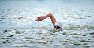 Tasse de triathlon de l'Ukraine et tasse de Bila Tserkva 24 juillet 2016 Images stock