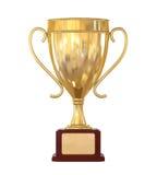 Tasse de trophée d'or Images stock