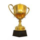 Tasse de trophée d'or Photographie stock libre de droits