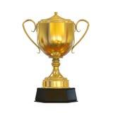 Tasse de trophée d'or Images libres de droits
