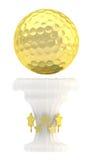 Tasse de trophée de sport de boule de golf de récompense Photos stock