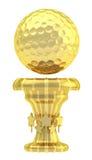 Tasse de trophée de sport de boule de golf de récompense Photo libre de droits