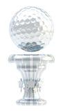 Tasse de trophée de sport de boule de golf de récompense Image libre de droits