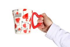 Tasse de Valentines Photo libre de droits