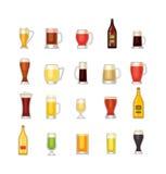 Tasse de vecteur de bière Photographie stock