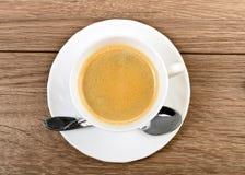 Tasse de vue supérieure de café Photo libre de droits
