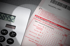 Tasse del modulo di imposta di servizi e di beni GST Fotografia Stock Libera da Diritti