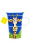 Tasse drôle de thé (d'isolement) Images stock