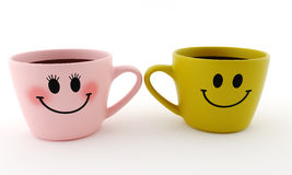 Tasse drôle - sourires Photo stock