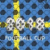 Tasse 2018 du football de la Russie Suède Photos libres de droits
