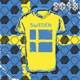 Tasse 2018 du football de la Russie Suède Photos stock