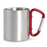 Tasse en acier de camping Photos stock