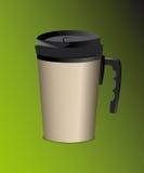 Tasse en acier de thermos avec la poignée pour des boissons Images libres de droits